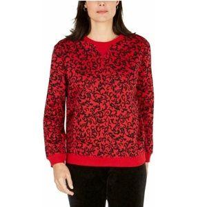Karen Scott Large Red Pull Over Sweater 6AP44